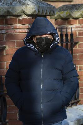 Noel Barry from Cherry Tree Road, Togher, Cork pictured at Cork District Court charged with allegedly making grossly offensive and menacing phone calls to the family of Cameron Blair (20), who was murdered in 2020.