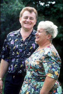 2FM DJ Larry Gogan and his wife Florrie