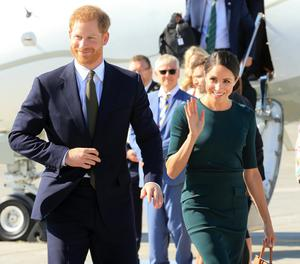 Prince Harry and Meghan Markle visiting in 2018