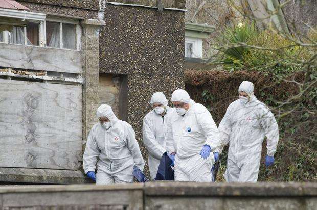 The remains of Francis 'Frankie' Dunne are taken from the scene in Cork