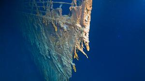 The wreck of the Titanic beneath the north Atlantic