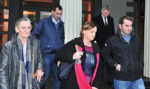 Kathleen Chada with family leaving the Inquest hearing at the Coroner's Court in Castlebar, Co Mayo.