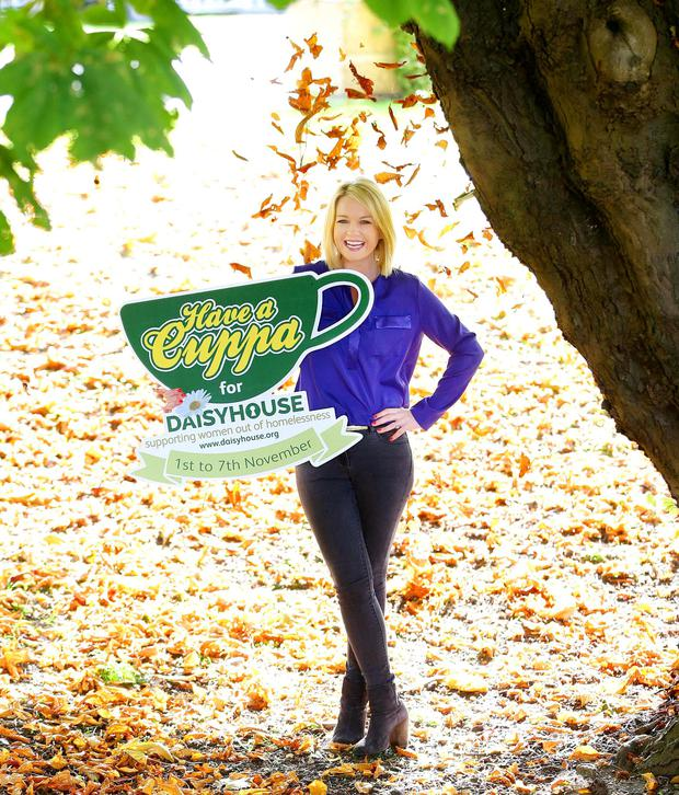 Pictured is Daisyhouse Ambassador,  broadcaster Claire Byrne as Daisyhouse Housing Association is looking for you to support their 'Have a Cuppa for Daisyhouse' initiative. Dublin homeless women's charity, Daisyhouse, is encouraging  companies, schools, community groups, organisations and the general public to hold their own 'Have a Cuppa for Daisyhouse'  event to help raise essential funds to support women to break the cycle of homelessness.  The fundraising events, which the Association hopes will be held across the country, will take place from the 1st - 7th of November. Details can be found on the website, www.haveacuppa.daisyhouse.org or by contacting Rita on 01 454 6078 or e-mail haveacuppa@daisyhouse.org  Pic: Marc O'Sullivan