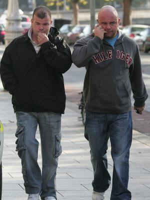 Wayne Bradley (left) is safe for now thanks to brother Alan