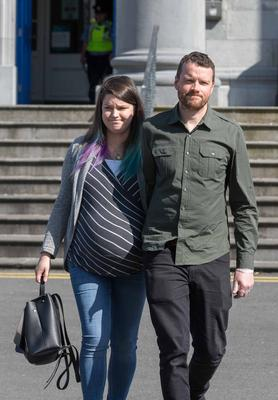 Vincent and Amy Wall outside court yesterday
