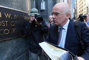 Former Anglo Irish Bank chief David Drumm arrives at the US Bankruptcy Courthouse on Wednesday. Photo: Irish Independent