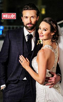 Emmett and Claire on their big day in New York, as captured by Hello! magazine
