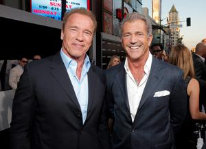 Mel Gibson with Arnie