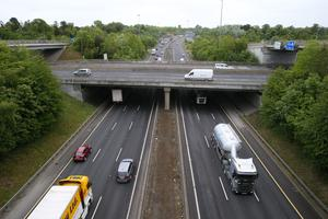 Traffic on the M50, where a motorist was clocked at 202kph