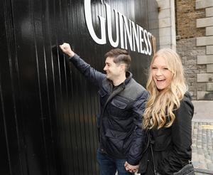 Competition winners James and Kaitlin Morrissey were given the keys to the Guinness Storehouse