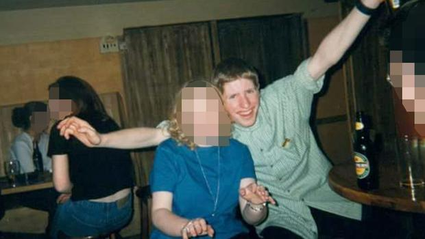 Trevor Deely on a night out with pals