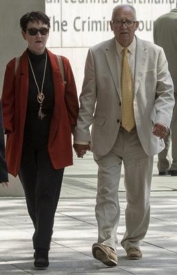 Patric and Geraldine Kriegel, the parents of murdered schoolgirl Ana at court