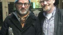 REM's Michael Stipe with Barber Peter Meade