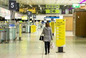 A quiet Dublin Airport yesterday – five people who previously returned from abroad have died from the coronavirus