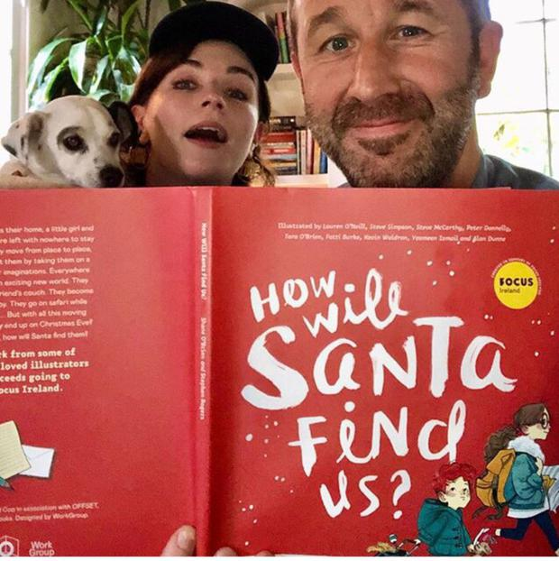 Aisling Bea posed with Chris O'Dowd and the new book