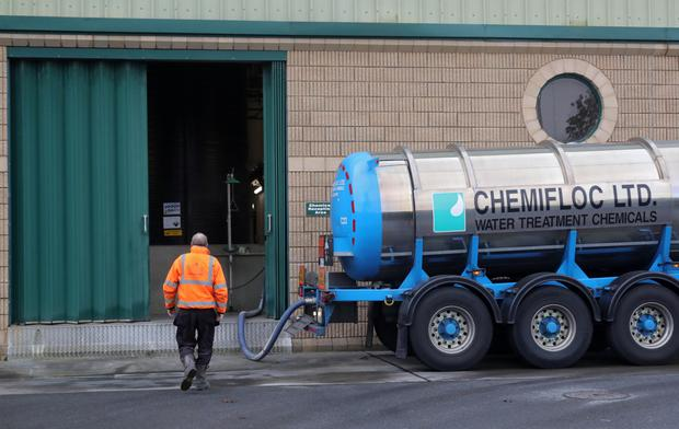 Chemicals delivered to the Leixlip Water Treatment Plant. Photo: Colin Keegan, Collins Dublin