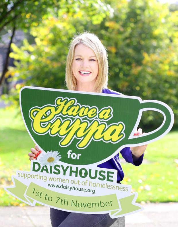 Pictured is Daisyhouse Ambassador,  broadcaster Claire Byrne as Daisyhouse Housing Association is looking for you to support their 'Have a Cuppa for Daisyhouse' initiative. Dublin homeless women's charity, Daisyhouse, is encouraging  companies, schools, community groups, organisations and the general public to hold their own 'Have a Cuppa for Daisyhouse'  event to help raise essential funds to support women to break the cycle of homelessness.  The fundraising events, which the Association hopes will be held across the country, will take place from the 1st - 7th of November. Details can be found on the website, www.haveacuppa.daisyhouse.org or by contacting Rita on 01 454