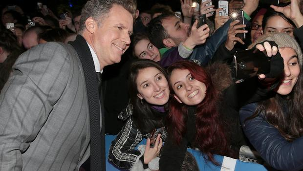 Will Ferrell poses with fans at The Savoy