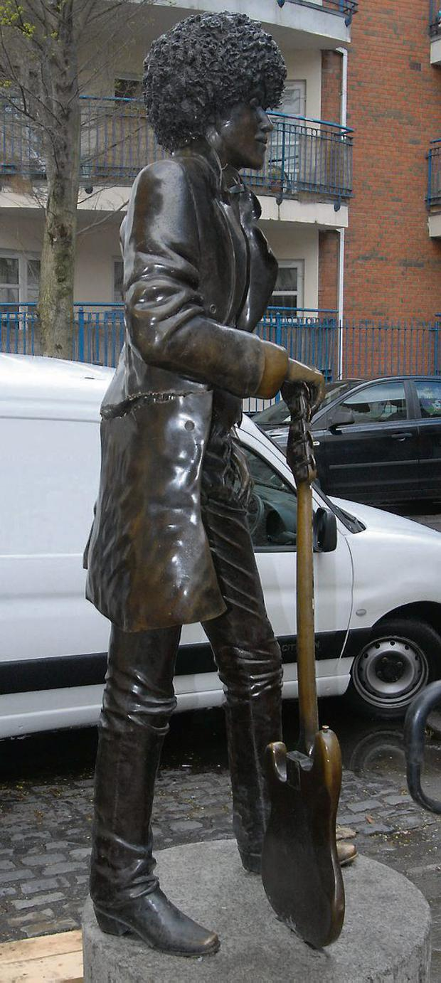 Phil Lynott statue damage - pic supplied by the gardai