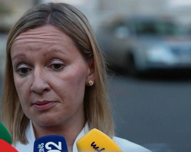 TD Lucinda Creighton speaks to the media outside Leinster House after she handed in her resignation as junior minister. Photo: Niall Carson/ PA Wire