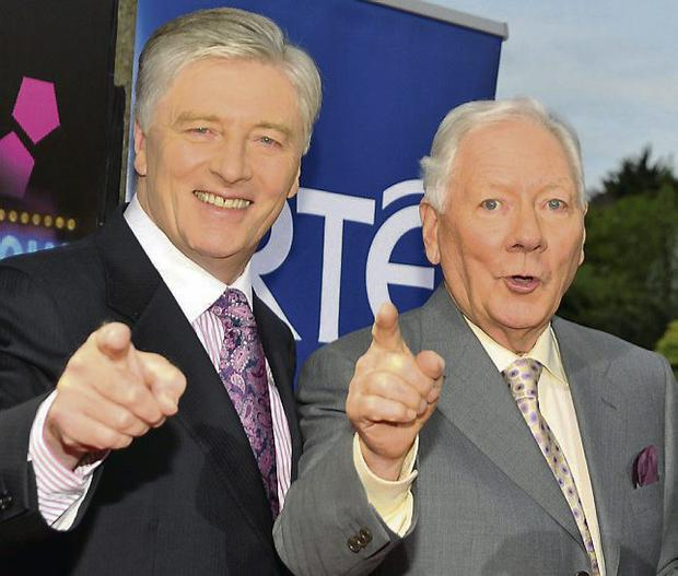 Gay Byrne (right) and Pat Kenny. Photo: Michael Chester