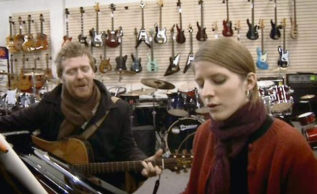 MUSIC: Glen Hansard and Marketa Irglova in Walton's for the famous scene from the movie Once.