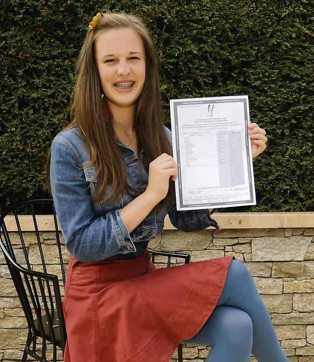 Imogen Grumley Traynor received 8 A1s in her Leaving Cert. Photo: Caroline Quinn