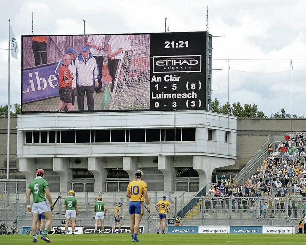 Croke Park spectators were stunned when a miss was called by Hawk-Eye. Brendan Moran / SPORTSFILE