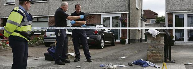Gardai at the scene on Hillcrest Park, Glasnevin. Photo: Colin Keegan, Collins