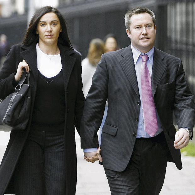Fugitive: Michael Lynn, pictured with his wife Brid, left Ireland six years ago, leaving behind furious investors. Photo: Courtpix