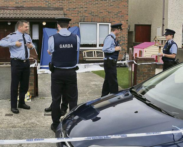 BRUTAL: The scene of the attack in Clondalkin in which Jason Carroll