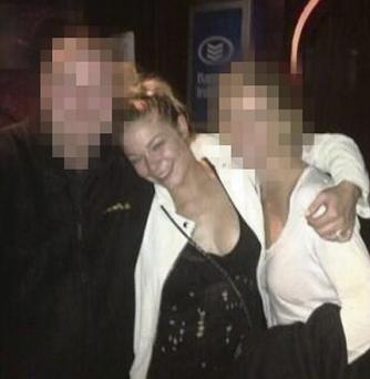 LIFE GOES ON: LeAnn Rimes pictured in Coppers with fans