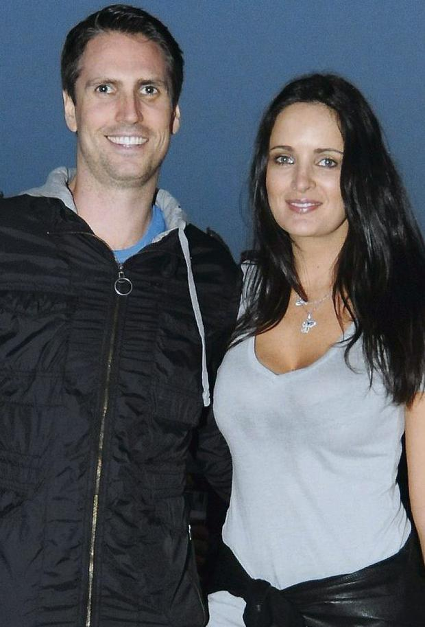 DELIGHTED: Former Miss Ireland Andrea Roche with husband Rob White
