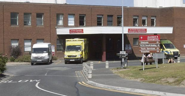Patients at Beaumont Hospital will receive no visitors this weekend. Picture: Gareth Chaney Collins