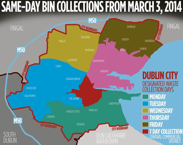 LIFT: Same-day bin collection will happen in six zones