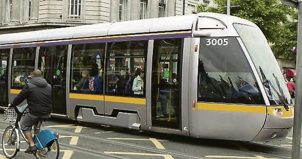 Driving ahead: Record customer numbers were not enough for Luas operator. Photo: Kyran O'Brien