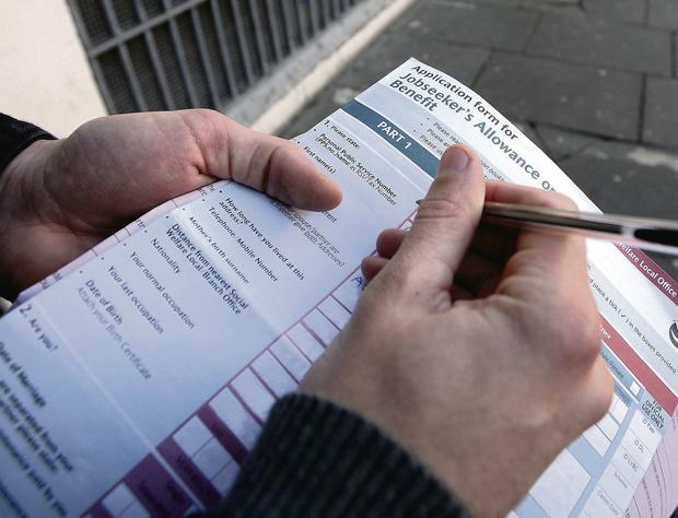 A welfare form. Photo: Mark Condren