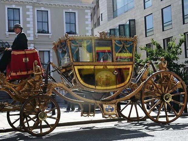 The Lord Mayor of Dublin's ceremonial coach