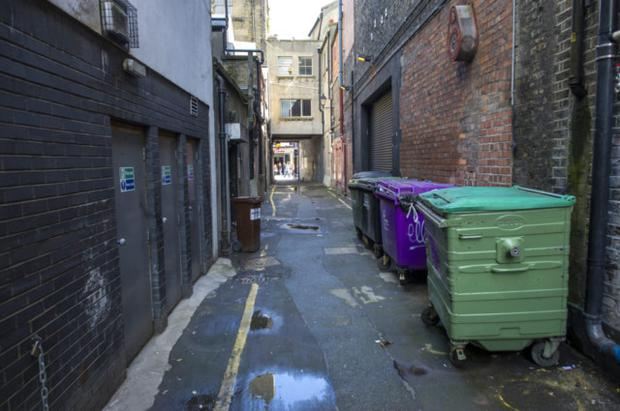 Laneway at side of Gaiety Theatre. Doug O'Connor