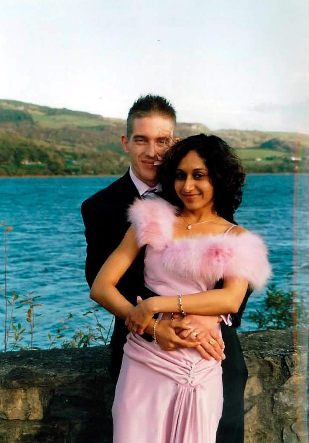 The late Dhara Kivlehan, pictured with her husband Michael.