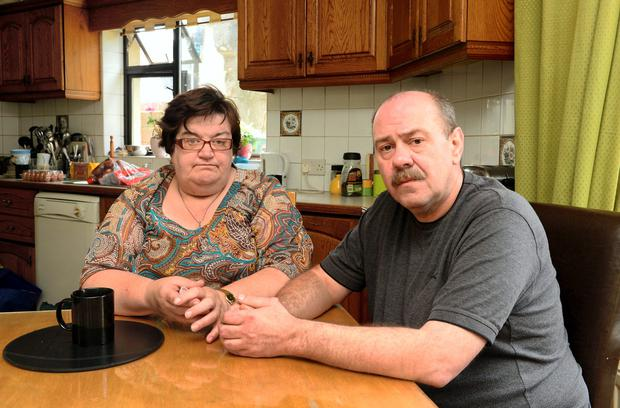 Conor Byrne's parents Marguerite and Davey Byrne pictured at their home in Dundalk. Photo: Ciara Wilkinson