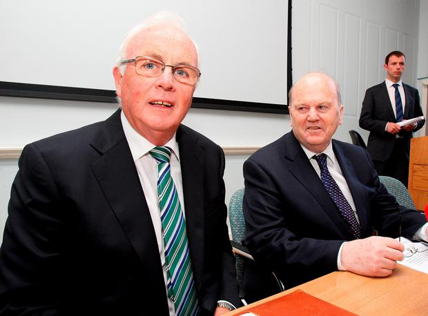 Finance Minister Michael Noonan (right) and Nama boss Frank Daly. Photo: Tom Burke