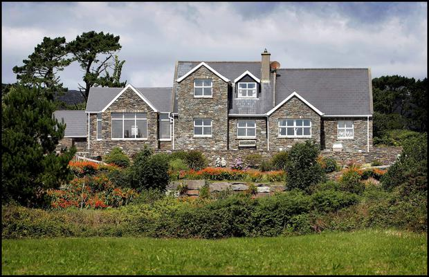 Ivor Callely's holiday home in Kilcrohane in west Cork. Photo: Steve Humphreys