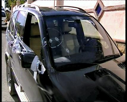 The car Hutch was in when it was shot in 2008 along with Freddie Thompson