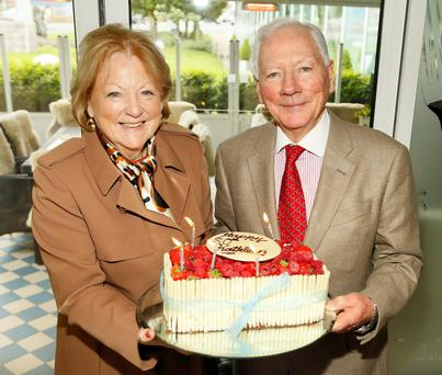 Gay Byrne and his wife Kathleen Watkins