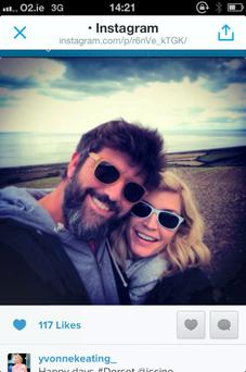 Yvonne Keating with boyfriend John Conroy on hols in Dorset