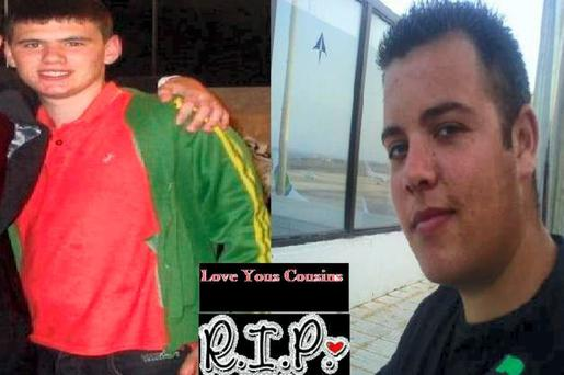 noonan right Tribute picture posted on facebook shows Glen Murphy (left) and Mark Noonan, shot dead in Tesco petrol station, Finglas late on the night of November 23, 2010