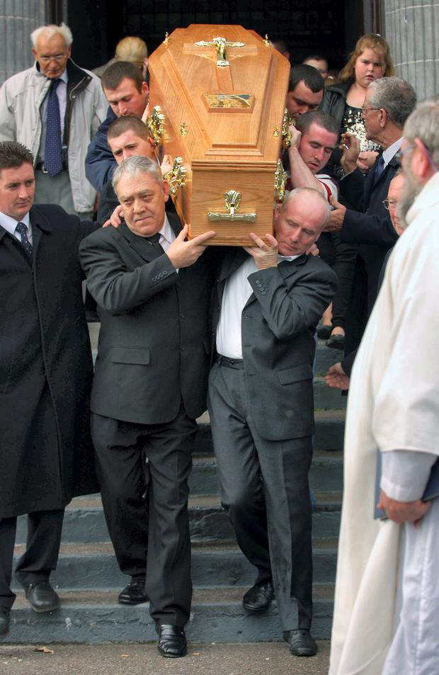 The funeral of Gussie Hornibrook in 2007