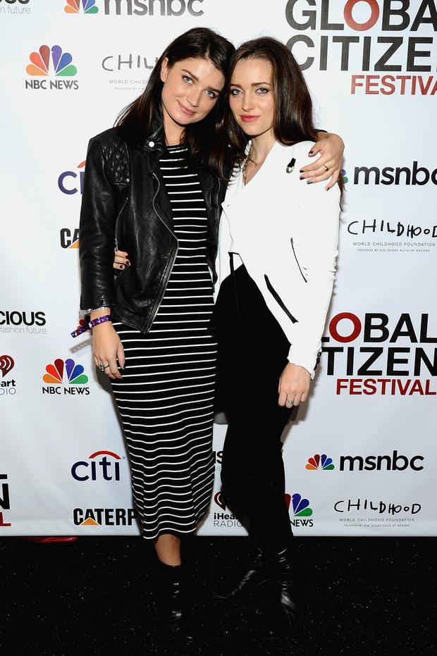 Eve Hewson (L) and Jordan Hewson attend VIP Lounge at the 2014 Global Citizen Festival to end extreme poverty by 2030 in Central Park