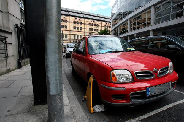 car clamped